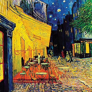 Vincent Van Gogh - Cafe Terrace at Night by Jeffest
