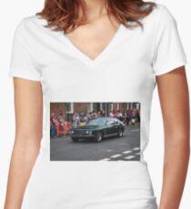 1969 Green Jensen Interceptor  Women's Fitted V-Neck T-Shirt