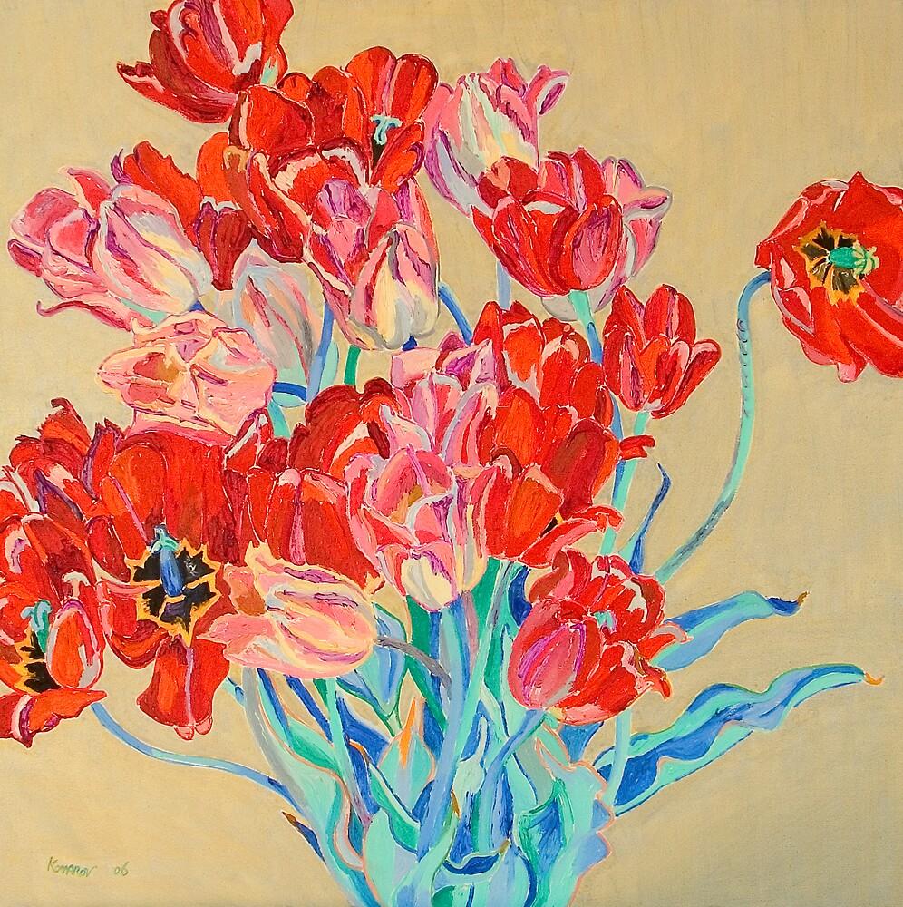 Red tulips by Vitali Komarov