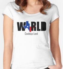 COWBOYS LAND Women's Fitted Scoop T-Shirt
