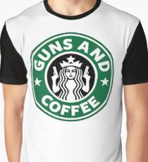 Guns and Coffee Graphic T-Shirt