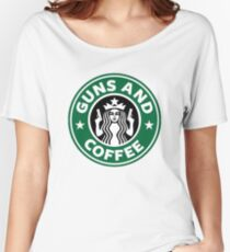 Guns and Coffee Women's Relaxed Fit T-Shirt