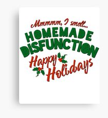 hilarious christmas shirt Canvas Print
