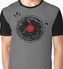 Cool Grunge Enchanting Vinyl Records Vintage Graphic T-Shirt