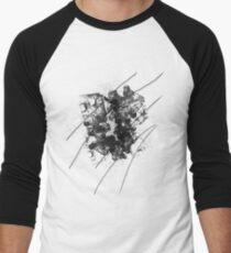 Cool Rusty Grunge Vintage Scratches  Men's Baseball ¾ T-Shirt