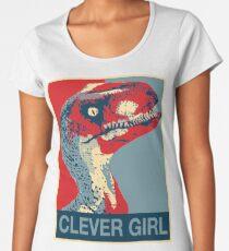 Raptor Propaganda - Clever Girl  Women's Premium T-Shirt