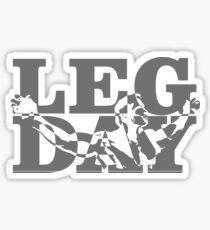 Arnold Leg Day Sticker