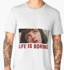 Life is boring (Pulp Fiction) - shirt phone and ipad case Men's Premium T-Shirt