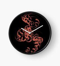 Cute Whirls Cool Lovely Grunge T-Shirt Clock