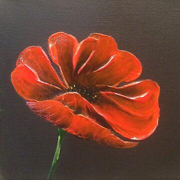 Red Flower by LindaCorbitt