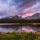 Continental Divide Stormy Rainy Sunset Sky by Bo Insogna