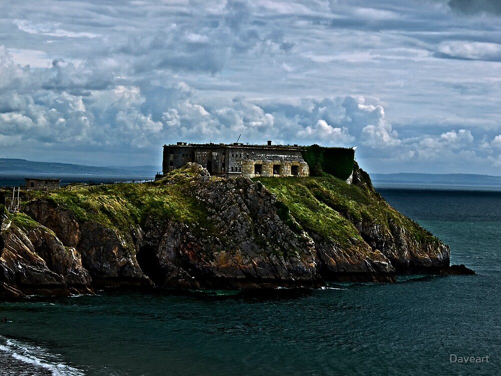 Castle at Tenby by Daveart