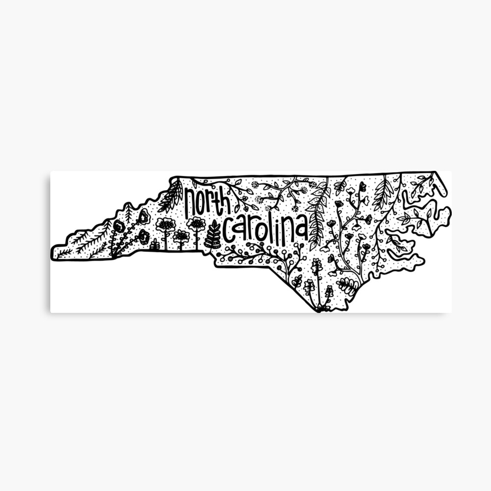 Nord-Carolina Leinwanddruck