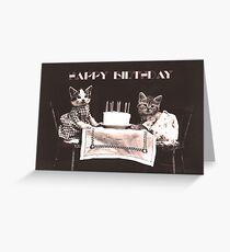 Happy Birthday Kittens Greeting Card