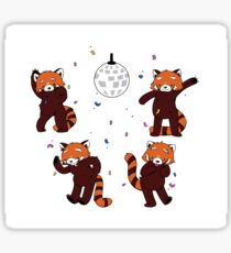 Red Pandamonium Sticker