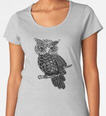 Cute Owl On Tree Women's Premium T-Shirt