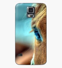 Pferd Auge Hülle & Klebefolie für Samsung Galaxy