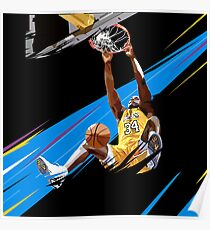 Shaquille O'neal Lakers  Poster