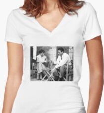 Audrey and Gregory Women's Fitted V-Neck T-Shirt
