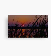 Sunset over Salt Pond 2 Canvas Print
