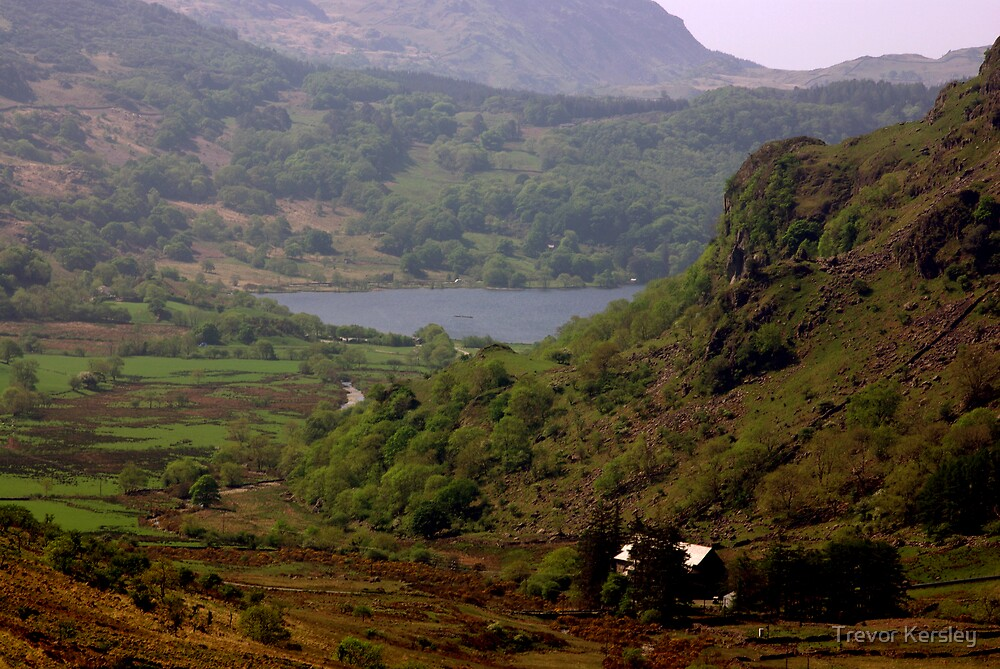Llnnau Mymbyr from Capel Curig by Trevor Kersley