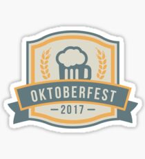OKTOBERFEST 2017 Beer Drinking Party Theme Design Sticker