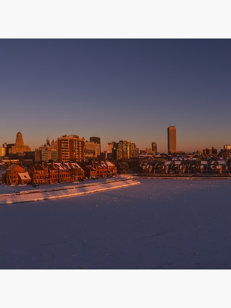 Buffalo New York Winter Sonnenuntergang von hotpixl