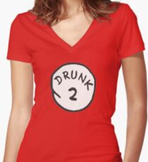 DRUNK 2 Women's Fitted V-Neck T-Shirt
