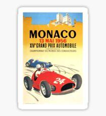 1956 Monaco Grand Prix Automobile Race Poster Sticker
