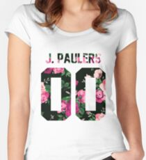 Jake Paulers - Colorful Flowers Women's Fitted Scoop T-Shirt