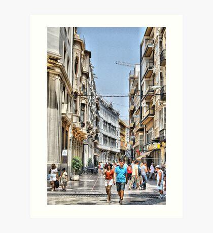 Calle Mayor, Cartagena, Spain Art Print