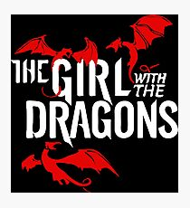 the girl with the dragon Photographic Print