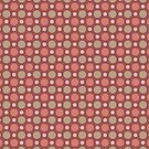 Polka Dots Wine Red Marsala Travertine Terra Cotta by Beverly Claire Kaiya