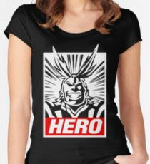 Boku No Hero Academia - All Might Women's Fitted Scoop T-Shirt