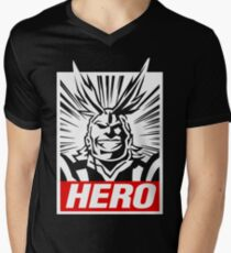 Boku No Hero Academia - All Might Men's V-Neck T-Shirt