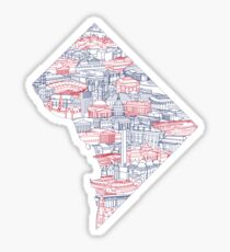 Washington DC Skyline Art Sticker