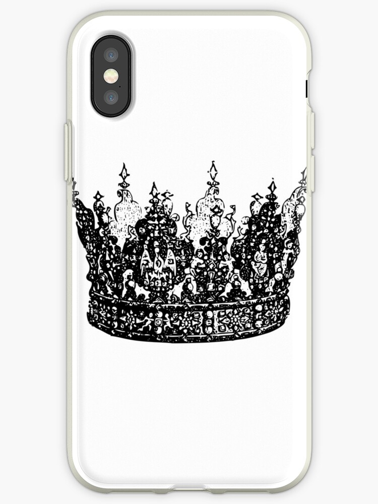 newest cbe9c 0e96f 'kings/queen crown his queen her king' iPhone Case by kingsvariety