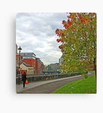 Flame Haired Lady.  CASTLE PARK, BRISTOL, ENGLAND Canvas Print