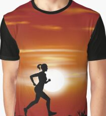 Runner Girl Graphic T-Shirt