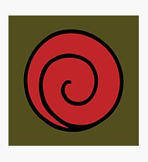 Uzumaki Clan Logo - Naruto Photographic Print