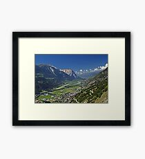 Rhone Valley, Switzerland Framed Print
