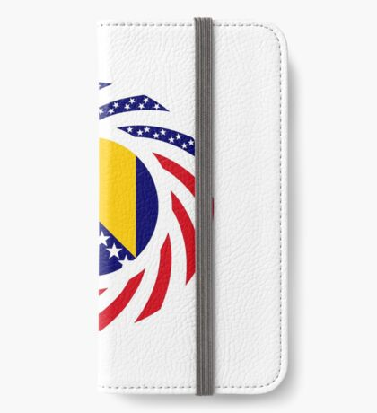 Bosnian American Multinational Patriot Flag Series iPhone Wallet