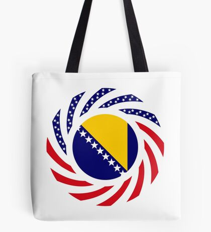 Bosnian American Multinational Patriot Flag Series Tote Bag