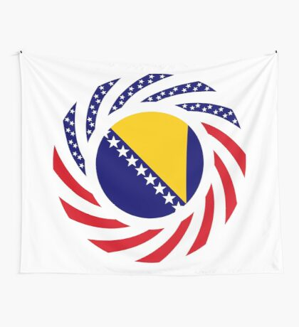 Bosnian American Multinational Patriot Flag Series Wall Tapestry
