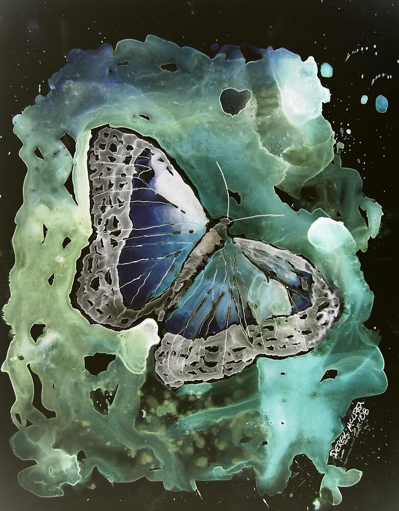 Digital monarch butterfly 2 modern abstract art by derekmccrea