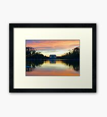 Lincoln Memorial Sunset  Framed Print