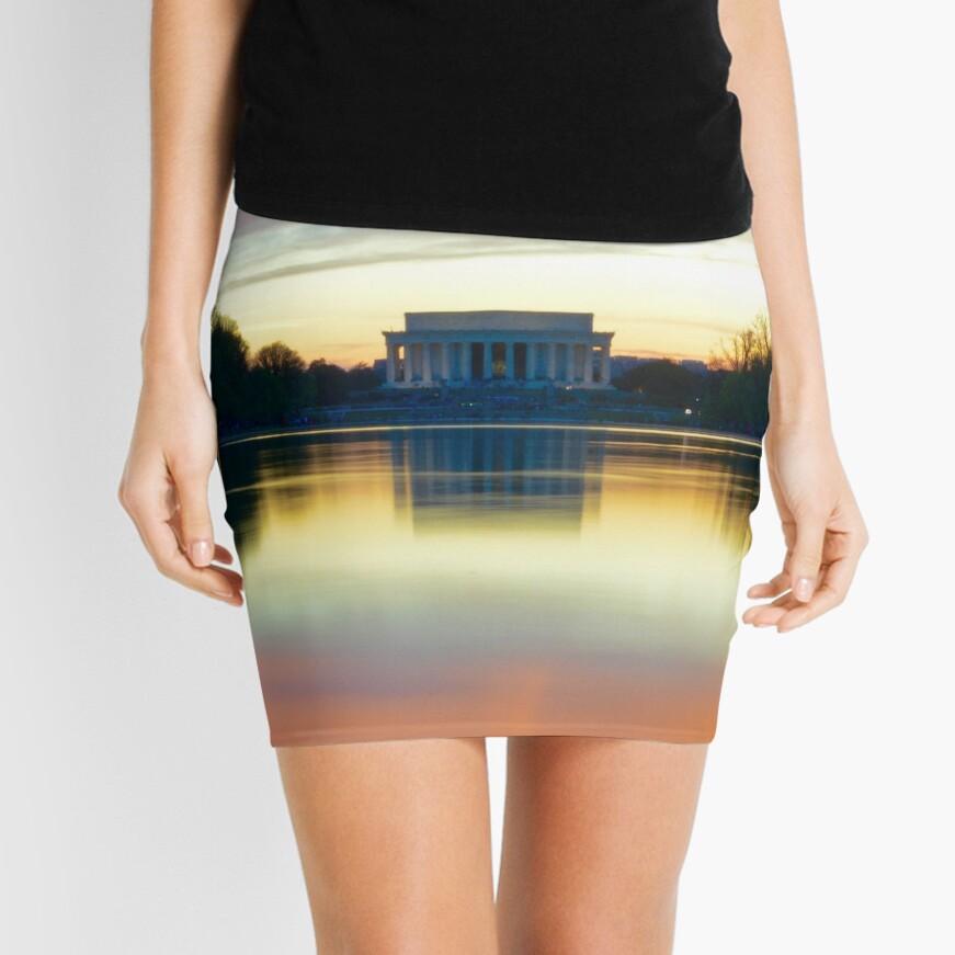 Lincoln Memorial Sunset Minifalda