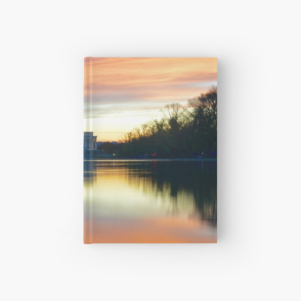 Lincoln Memorial Sunset Cuaderno de tapa dura