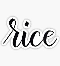 Rice University Sticker
