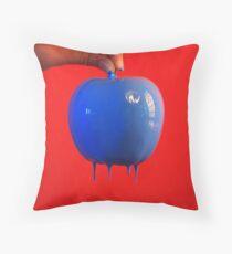 blue apple Throw Pillow